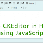 Integrate CKEditor in Html Page using JavaScript