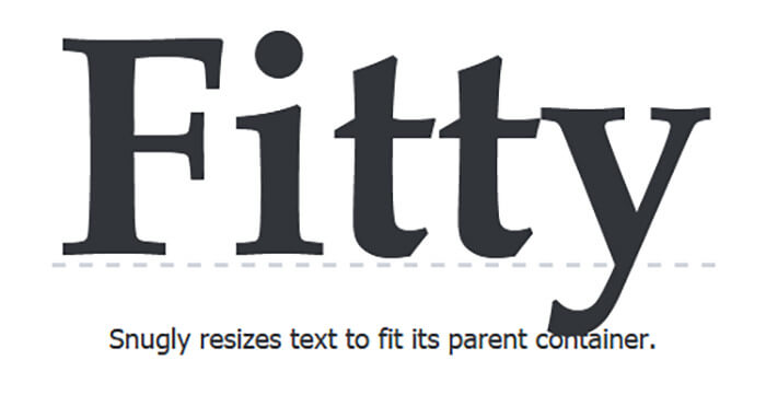 Fitty - 15 Interesting JavaScript and CSS Libraries for September 2017
