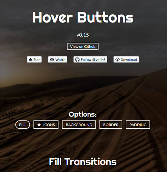 Hover Buttons - 15 Interesting JavaScript and CSS Libraries for September 2017