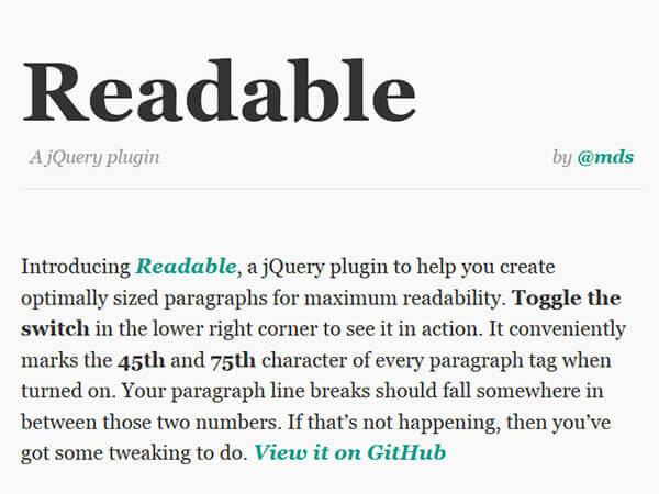 Readable - 15 flashy jQuery plugins