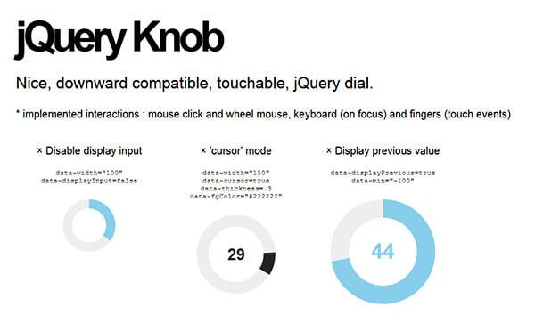 jQuery Knob - 15 flashy jQuery plugins