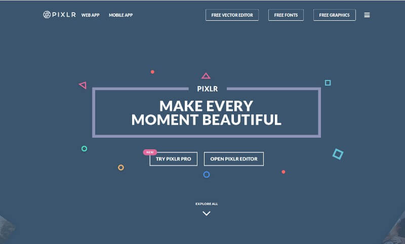 pixlr - Create online photos of any software, in free